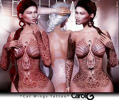 Cat Wings TaTToo [CAROL G]