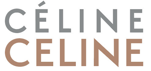 The Céline logotype, redesigned in 2018 under the creative direction of Hedi Slimane.