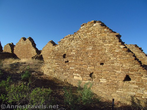Ruined walls at Pueblo del Arroyo, Chaco Culture National Historical Park, New Mexico
