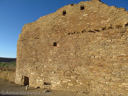One of the surviving curved walls at Pueblo del Arroyo, Chaco Culture National Historical Park, New Mexico