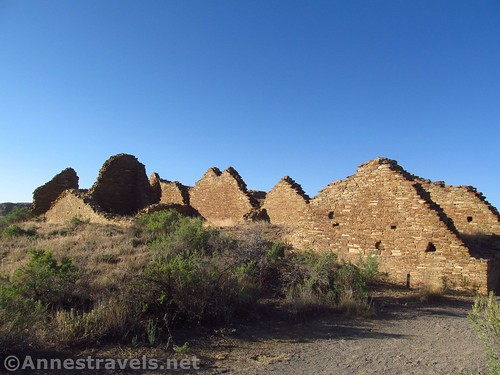 Approaching Pueblo del Arroyo, Chaco Culture National Historical Park, New Mexico
