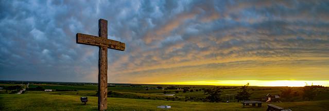 081319 - Nebraska Mammatus Sunset 005 (Pano)