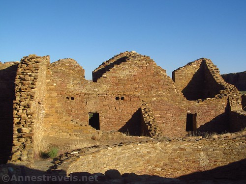 Early morning at Pueblo del Arroyo, Chaco Culture National Historical Park, New Mexico
