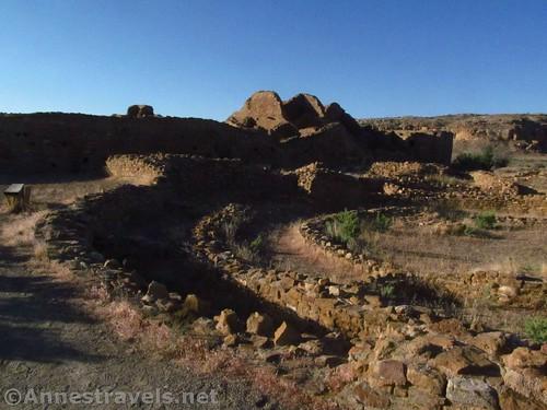 Curving walls inside Pueblo del Arroyo, Chaco Culture National Historical Park, New Mexico