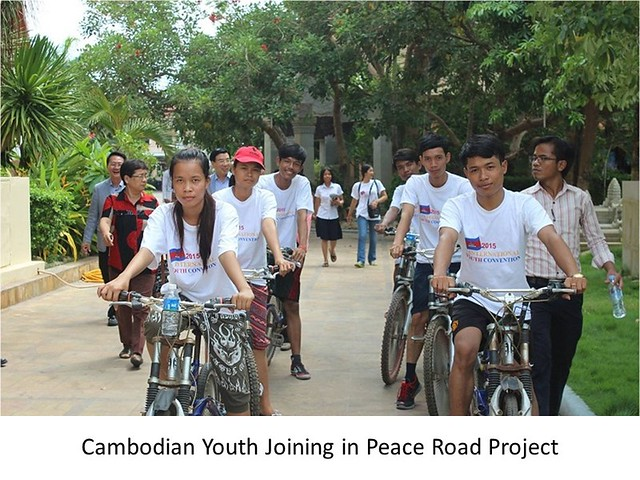 Cambodia-2015-08-15-Cambodian Peace Road Connects to Korean Unification Hopes