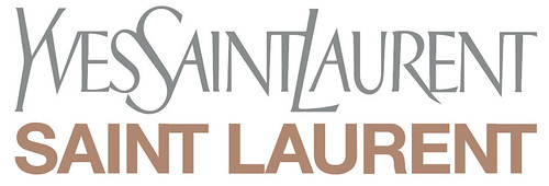 The Yves Saint Laurent logotype, redesigned under the creative direction of Hedi Slimane in 2012.