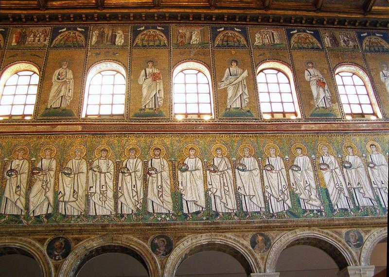 20 Сан- Аполлинаре Нуово Св.мученики Мозаика