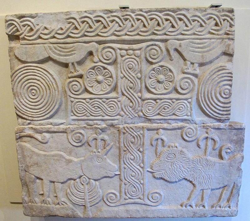 38 Плита из Лукки около 600-620 до н.э.