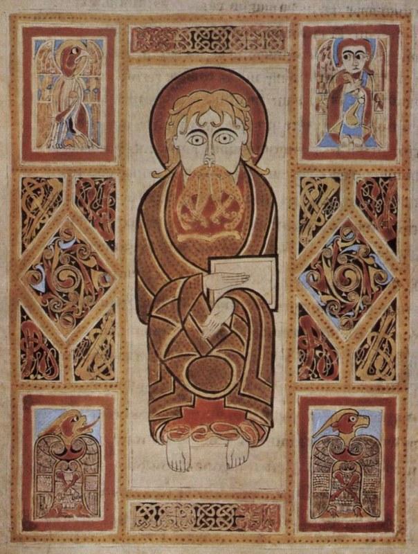 85 Евангелие кельтское из Сент Галлена. VIII в Ирландия