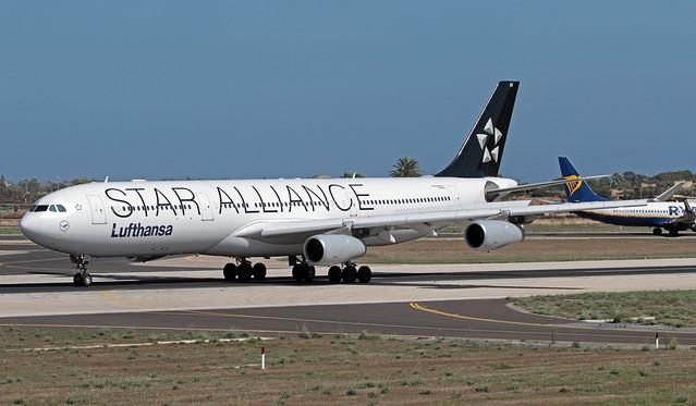 D-AIGV LMML 24-09-2019 Lufthansa Airbus A340-313X CN 325
