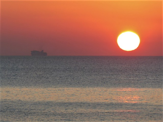 Sunset over the Atlantic - from Cadiz seafront