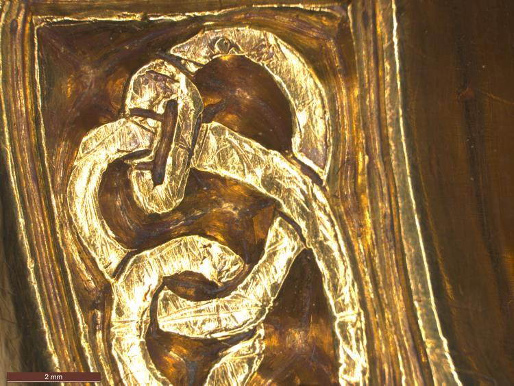 03 Англо-саксонская пряжка ремня VII в фрагмент-змея
