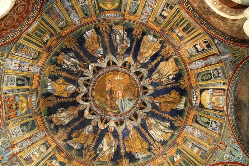 29 Баптистерий православных. Мозаика купола