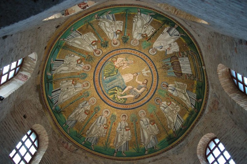 15 Арианский Баптистерий мозаика купола