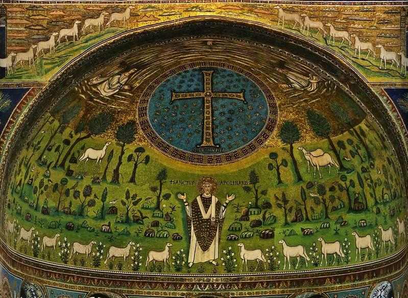 12 Сан Аполлинаре ин кляссе. Мозаика в апсиде.