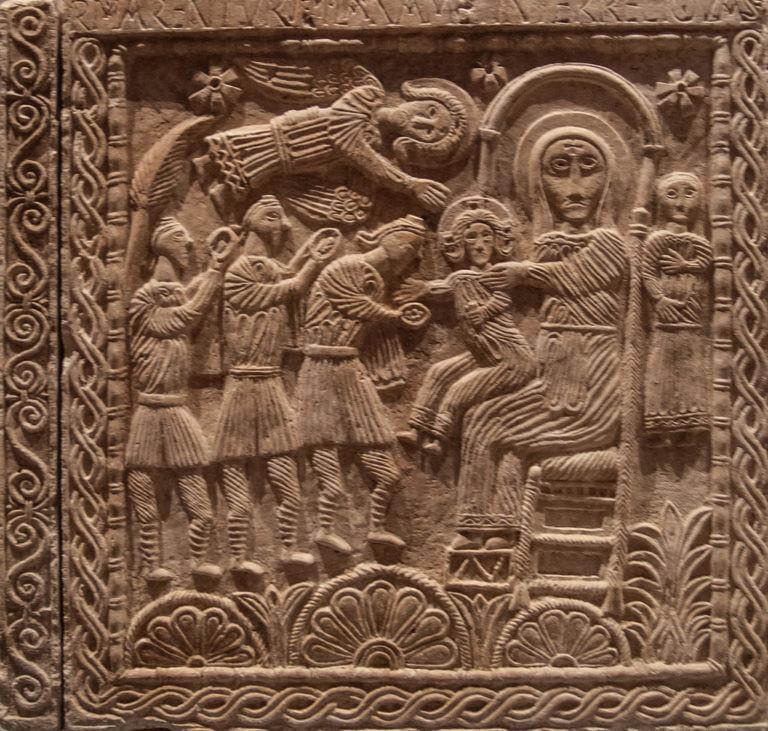 41 Алтарь короля Рахиса. Поклонение волхвов. VIII в