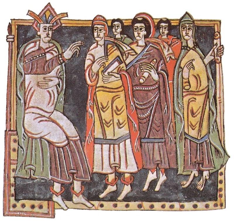 66  III Толедский собор. Миниатюра X в.
