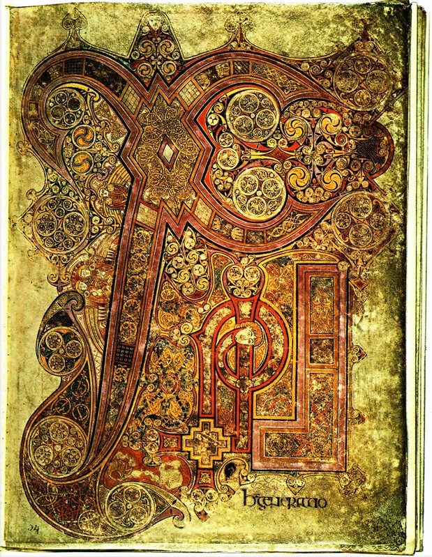 88 Келлская книга (Четвероевангелие) около 800 г
