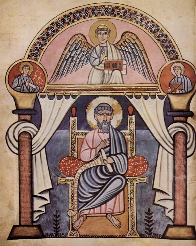 87 Золотой кодекс из Кентрбери. После 750 г. Стокгольм, Королевская библиотека