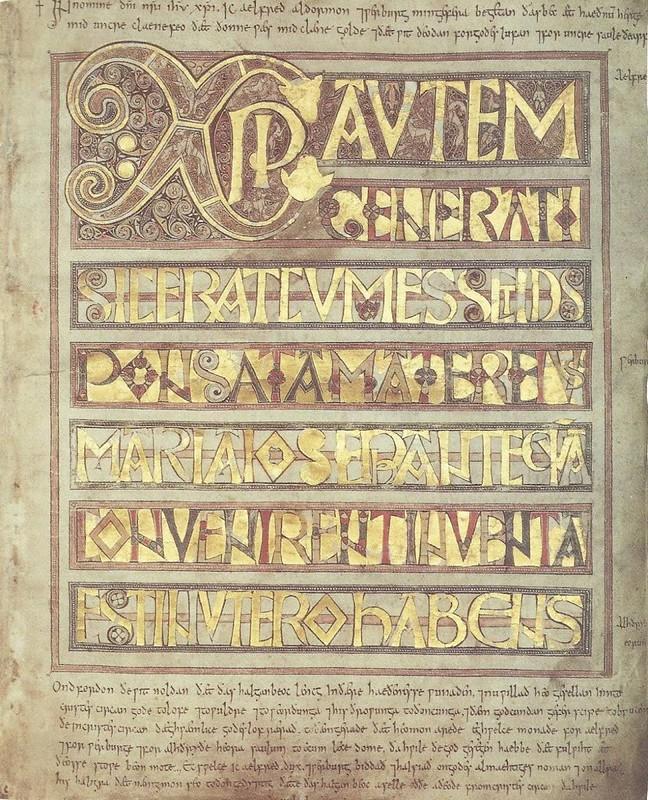 86 Золотой кодекс из Кентрбери. После 750 г. Стокгольм, Королевская библиотека