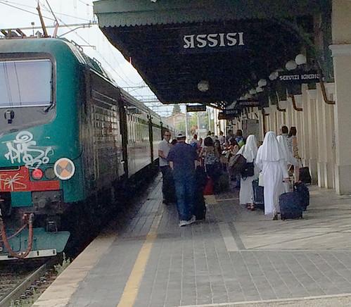 pellegrinaggio ad assisi in treno