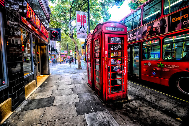 Red Phone Booths in London, England