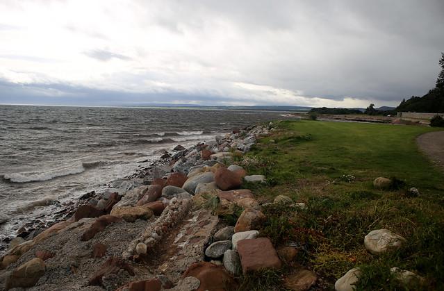 The coast beside Dunrobin Castle