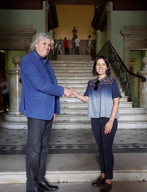 Director del Museo de la Memoria se reúne con Ministra de Cultura de El Salvador
