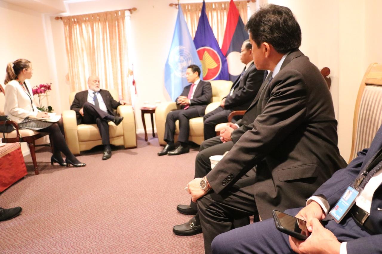 Venezuela y Laos fortalecen relaciones bilaterales en el marco del 74 período de sesiones de la Asamblea General de la ONU