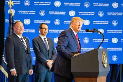 President Trump Addresses Journalists at the UN General Assembly