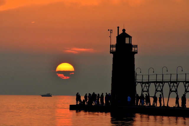 Sunset at South Haven Michigan