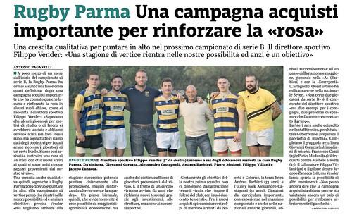 Gazzetta di Parma 25.09.19 - Nuovi arrivi alla RPFC