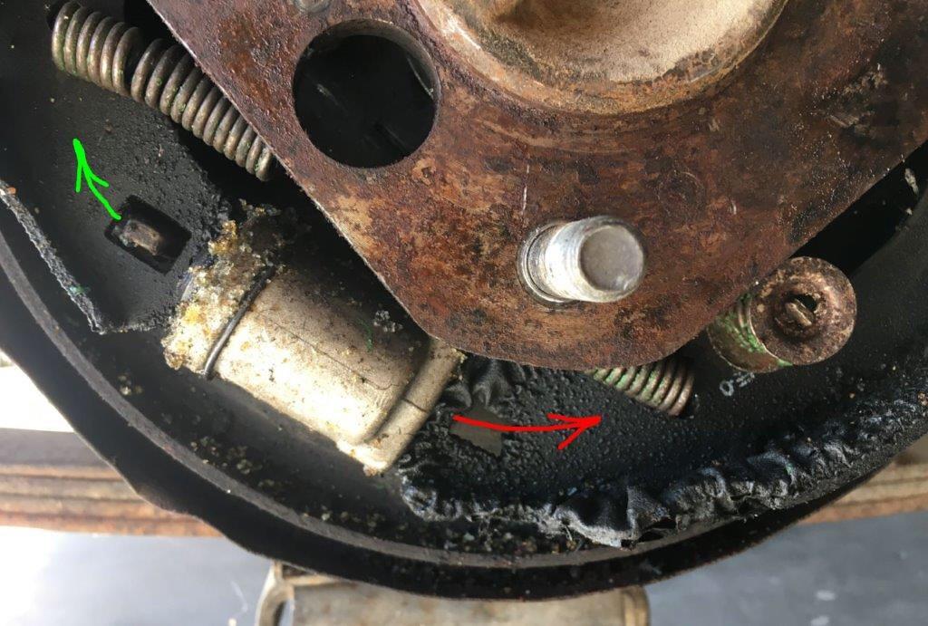 Bad brake cylinder.