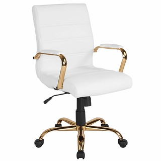 white & gold office chair