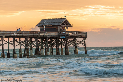 dawn sunrise ocean beach pier waves sky clouds water nature landscape seascape cocoabeach florida romantic stroll walk