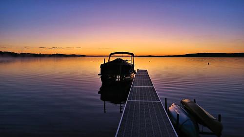 Late summer sunrise, Bear Lake, Michigan