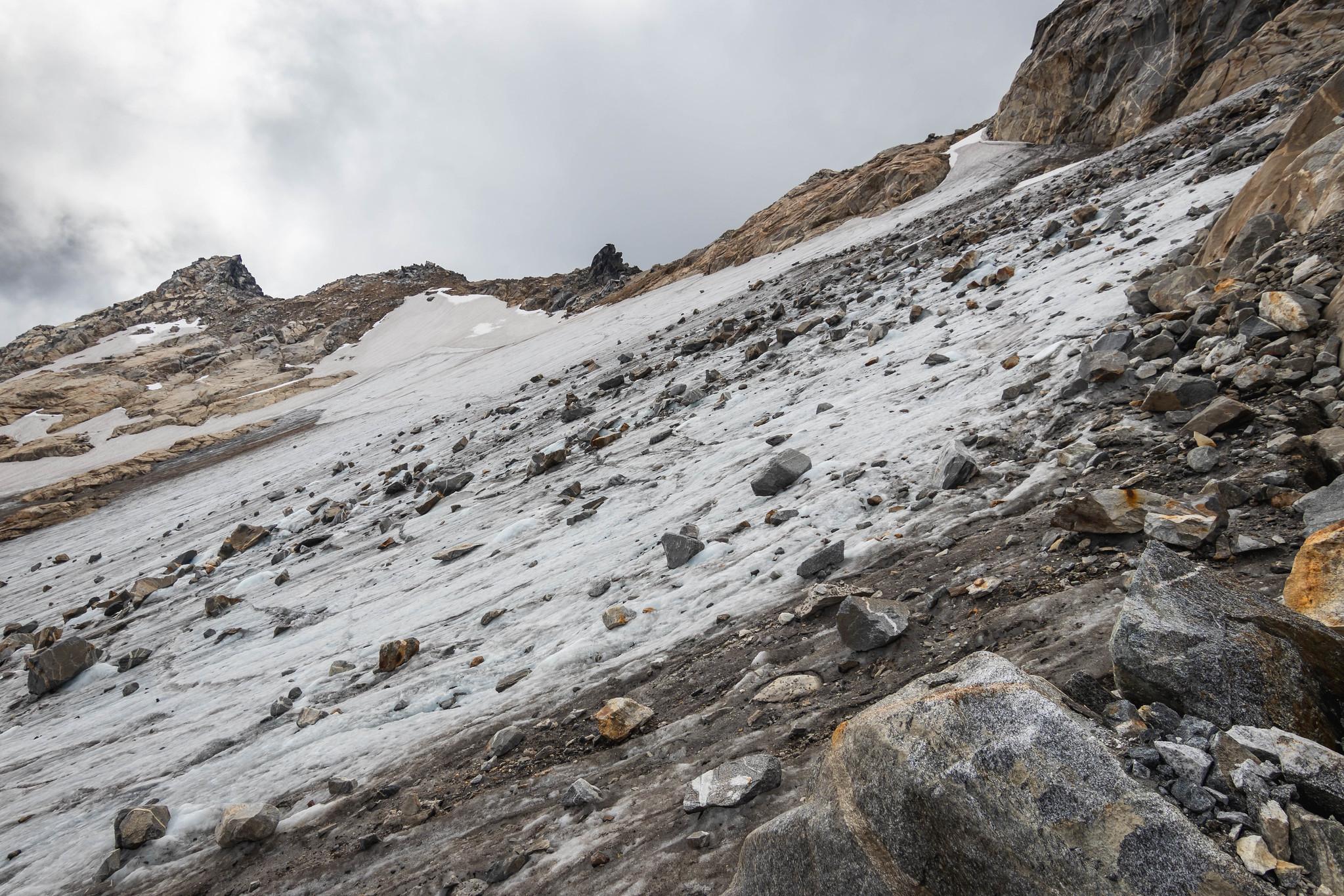 Beware of rockfalls