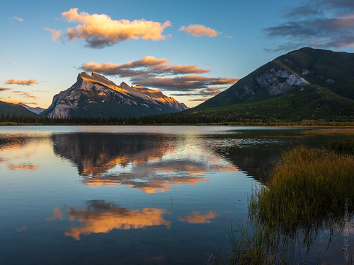 Mount Rundle Sunset in Vermillion Lakes