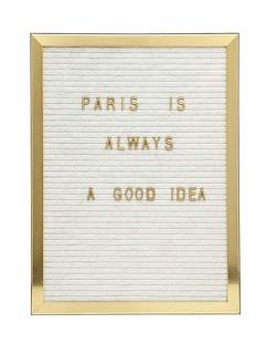 Gold Letter board