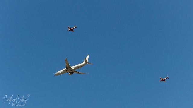 P-8A Poseidon flyover Adelaide