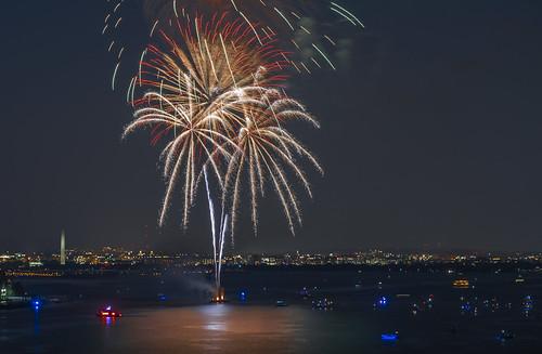 Fireworks Display Over Potomac
