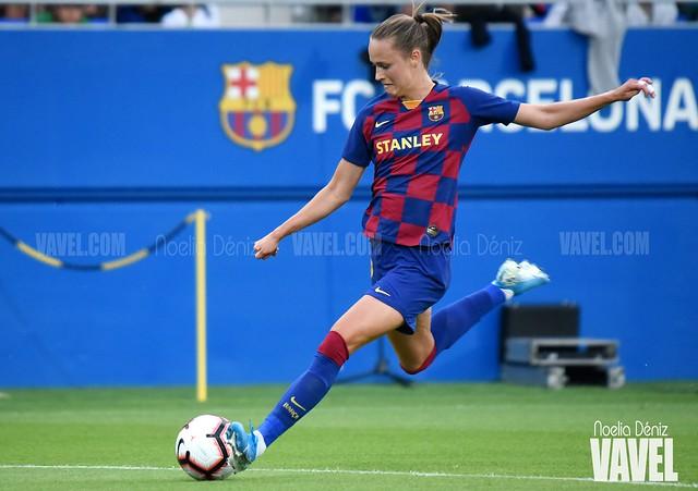 Caroline Graham en los dieciseisavos de final de la UEFA Women's Champions League durante la presente temporada | Foto de Noelia Déniz, VAVEL