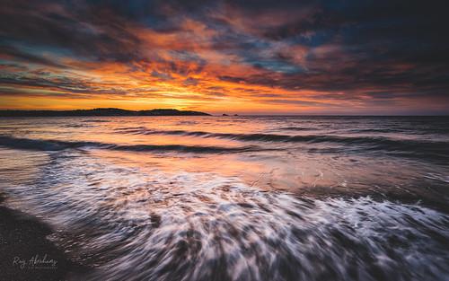 paignton beach sky dawn sunrise seascape light horizon clouds colour waves motion outdoors coast rtaphotography nikon d750 nikkor 1835 nature devon torbay