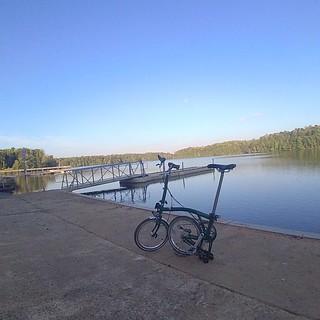 Posing at Salem Lake #Brompton #Spectacles