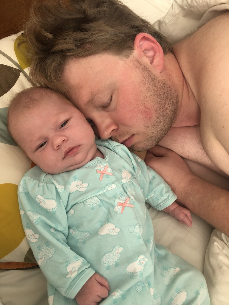 Morning snuggles with Daddy