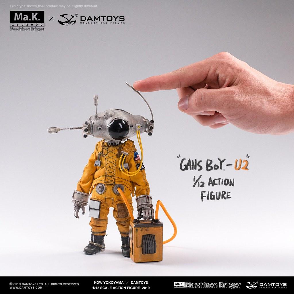 【DAMTOYS × 橫山宏】首款 1/12 比例可動人偶作品「Gans Boy U-2」ガンスボーイU-2 發表!!
