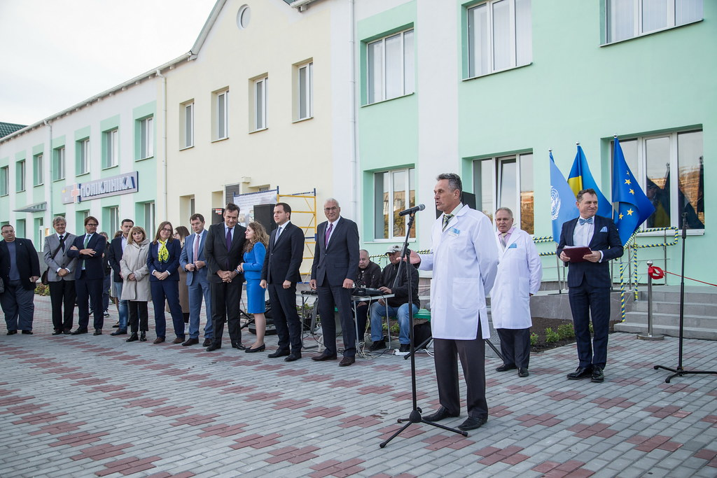 Polyclinic building open after reconstruction thanks to EIB, Prymorsk, September 25, 2019