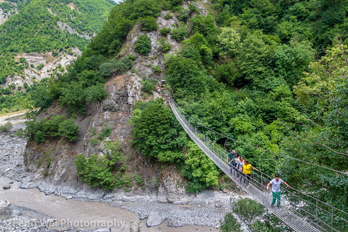 eurasia highangleview traveldestinations tourist transportation bridge travel river landmark caucasus outdoors colorimage azerbaijan tourism lahic horizontal ismaillidistrict