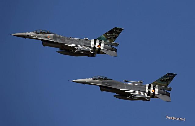 BAF F-16 FA-124 - FA-57 at KB Spotterday 14 septembre 2019  2019-09-14 13-21-21  - G55A7675 - mod et signe