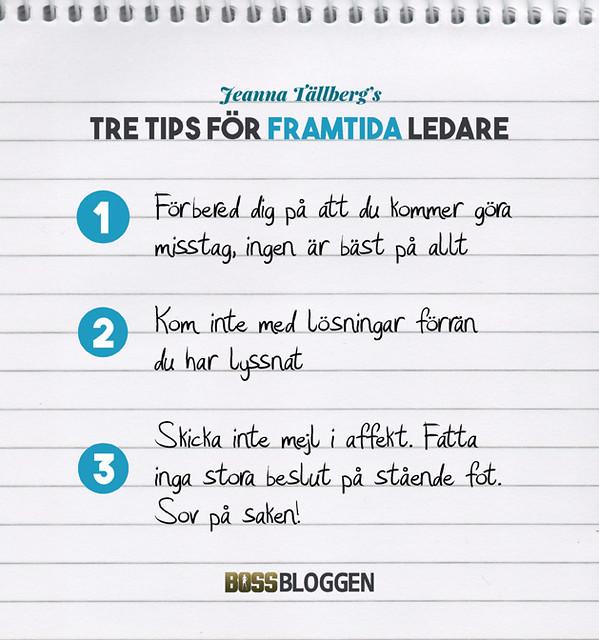 Tre Tips Jeanna Tällberg